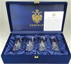 Faberge Set of 4 Crystal Vodka Shot Glasses